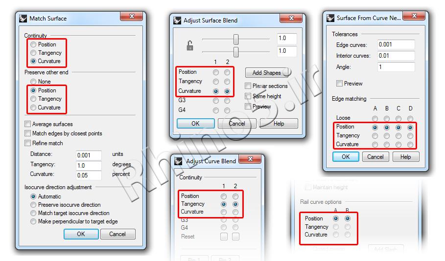 کاربرد امتدادهای هندسی در دستورات مختلف راینو