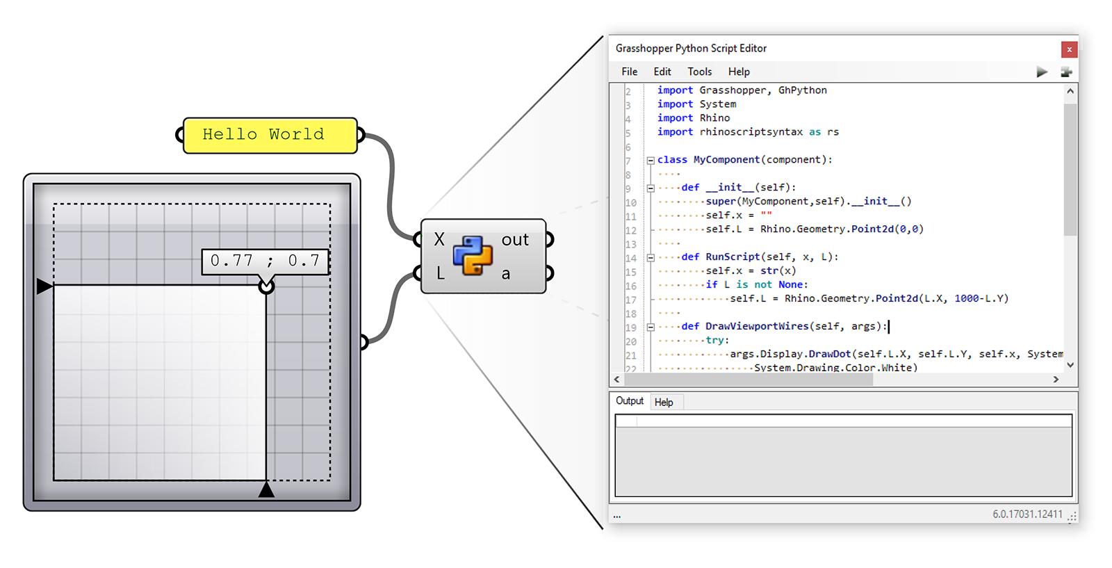 GHPython اسکگریپت نویسی به زبان پایتون در گرسهاپر