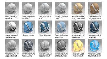 کتابخانه متریالهای آماده V-ray 3.4
