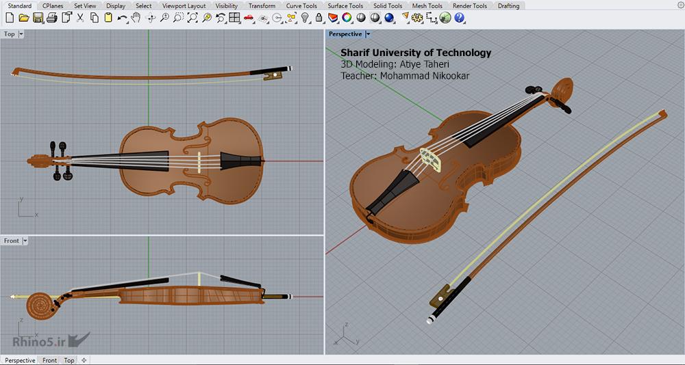 پروژه درس طراحی به کمک کامپیوتر 2 (راینو) - دانشجو: عطیه طاهری