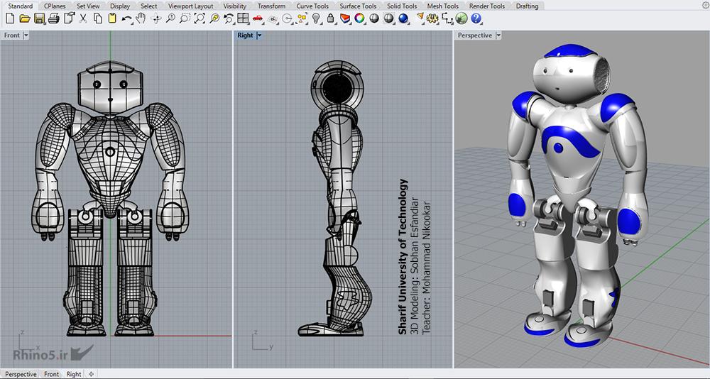 پروژه درس طراحی به کمک کامپیوتر 2 (راینو) - دانشجو: سبحان اسفندیار