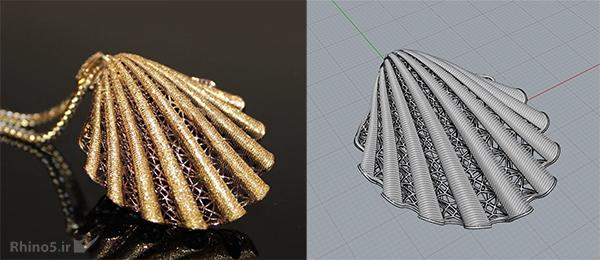 طراحی طلا با راینو